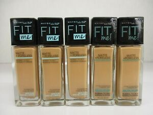 5 Maybelline Fit Me Foundation Matte Poreless Normal to Oily 230 Exp8/22 GM 2411