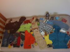 YOUNG BOYS WINTER CLOTHES SIZE 3 to 4 MIXED LOT, HOODED JACKET, JEAN JACKET TOYS