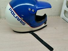Vintage polaris motorcycle snowmobile full face helmet