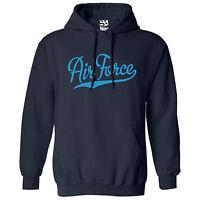 Air Force Script & Tail HOODIE - Hooded Sweatshirt - All Sizes & Colors