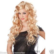 W212 Allure Blonde Glamour Goddess Women Costume Long Curl Wig