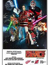 New Jersey NJ Devils STAR WARS NIGHT Poster Schneider Elias Greene Henrique RARE