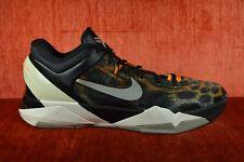 CLEAN Nike Zoom Kobe VII 7 System Cheetah Black/Circuit  488371-800 Size 12