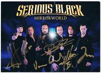 Serious Black - original signierte Autogrammkarte - hand signed - - HEAVY METAL