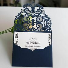 Laser Cuts Lace Wedding And Greetings Invitation Cards Blue European Stylish New