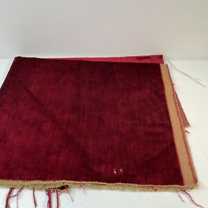 velvet fabric red 28x26 craft sewing project