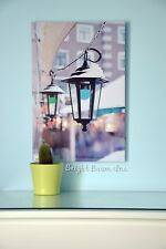 Canvas Art LED Painting Lantern on The Street Snow Framed Home Wall Decoration
