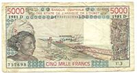 Mali - 5000 Francs-1981Dc/Woman at left-fish and boats
