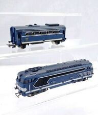 Jouef Electric Locomotive Engine With Coach Car HO Scale