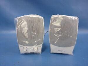 New! Creative Labs Sound Blaster SBS 15 SBS15 White Speaker Set