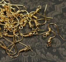 40x Ohrhaken Fischhaken Ohrfeder Ohrring Schmuck DIY Basteln 18mm oh01g