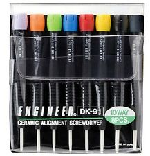 Engineer Inc. 8-In-1 Ceramic Alignment Driver Set Dk-91 Brand New from Japan F/S