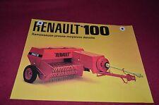 Renault Tractor 100 Hay Baler Dealers Brochure DCPA2 ver2