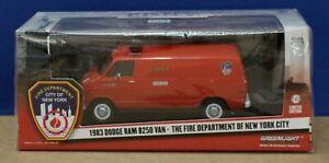 Greenlight 86578 1983 Dodge Ram B250 Van FDNY Limited Ed 1:43 Mint/ Box