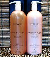 Alterna Bamboo Abundant Volume Shampoo & Conditioner 33.8 oz Liter Set Duo Pumps