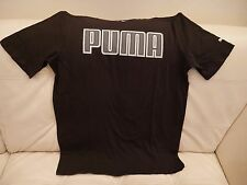 NEW WITH TAGS MEN'S PUMA BLACK SILVER METALIC T-SHIRT SIZE SMALL 59207601