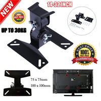 30° Rotated TV Wall Mount Bracket Holder Stand 14-32'' Steel LCD LED Flat Panel