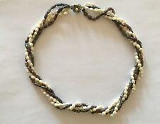 Vintage 4 Strand 2 Colour River Pearl Necklace