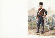 """CARTE MILITAIRE DE VOEUX OU AUTRE OCCASION """"ARTILLERIE A CHEVAL DE LA GARDE 1868"""