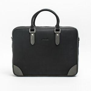 Prima Mela Genuine Leather Laptop Briefcase Handbag Shoulder Bag Messenger Bag
