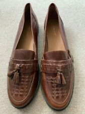 Mens Brown Leather  Loafers Size 9 (42) from New Look