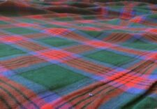 CLEARANCE:  Check / Tartan Style Brushed Cotton Fabric Blue & Red Colours