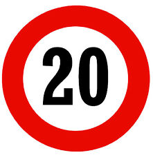 ROAD SIGNS (20 MPH SPEED LIMIT) -  NOVELTY FRIDGE MAGNET - BRAND NEW