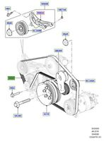 LAND ROVER GENUINE BELT ACCESSORY DRIVE New Discovery (B6) ,Range Rover (D6)