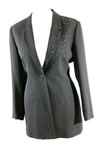 Roman Originals Women's Black Beaded Jacket Sizes UK 12