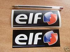 2x ELF Oil  motorsport sponsor stickers, decals - car, motorcycle / 120mm x 45mm