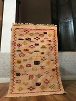 "Vintage Moroccan Taznakht Rug handmade 2'2""x3'4"" Geometric Multicolor Berber Rug"