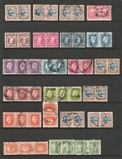 NEW ZEALAND PRE DECIMAL MULTIPLES / PAIRS STOCK CARD (JF)