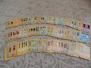 Lot of 167 Base Set Unlimited COMMON UNCOMMON Pokemon Cards! Never Played!!!