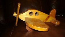 Primitive Antique Hand Carved Folk Art Wooden Airplane, Child'S Toy-Displaydecor