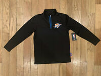 NBA Oklahoma City Thunder Half Zip Pullover Jersey. Boys 10-12. New With Tags.