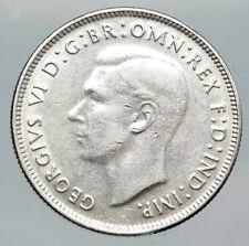 1942 AUSTRALIA Large King George VI Kangaroos VINTAGE Silver Florin Coin i91957