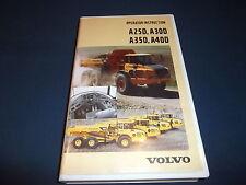 VOLVO A25D A30D A35D A40D DUMP TRUCK OPERATOR OPERATION & MAINTENANCE MANUAL VHS