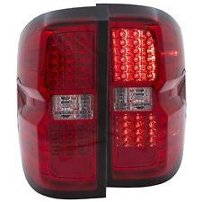 CHEVY SILVERADO 1500 2014 L.E.D TAIL LIGHTS RED