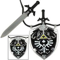 Dark Link Master Sword & Hylian Shield Legends Necklace Black Zelda