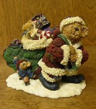 Boyds Bearstones #228391 Klaus Jinglebear w/ Atlas...Christmas is Coming, 2E NIB