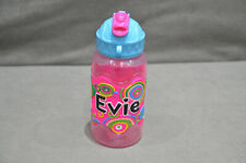 400ml Water Juice Bottle Straw And Flip Top School High Quality Name - Evie