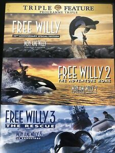 Triple Feature: Free Willy 1,2 and 3 (DVD,2006, Canadian)