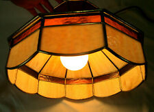 Vintage Stained Glass Hanging Pendant Light / Lamp Shade Tiffany Style