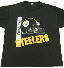 Vtg 90's Pittsburgh Steelers Men's T-Shirt Helmet Logo Single Stitch Tee Size Xl
