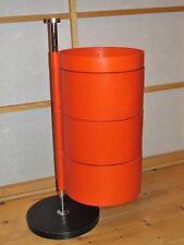70er Design  Utensilo - Etagere - orange - 4 Elemente auf Stahlrohr - schwenkbar