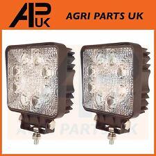 PAIR of 24W LED Work Light Lamp Flood Beam Truck Car Boat ATV Offroad 4x4 Square
