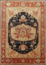 Indian Hand Knotted 9x12 270x365 Fine Serapi Persian Oriental Wool Carpet Rug