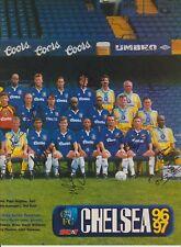 Chelsea & SHEFFIELD MER 1996-1997 ORIG Firmato a Mano RIVISTA Team Group 35 x Sigs