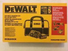 New DeWalt DCB205CK 20V 20 Volt Max XR Kit With Charger, DCB205 Battery and Bag