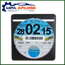 SINGLE PLAIN BLACK CAR PARKING PERMIT TAX DISC HOLDER LICENSE HOLDER